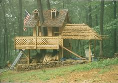 Tree house i built for my kids in Birchrunville, Pa