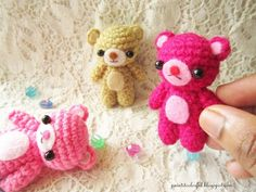 Patron Amigurumi : Petits nounours – Made by Amy