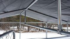 Winterproof Your Dog Kennel Dog Kennel Roof Diy Dog Kennel 10x10 Dog Kennel