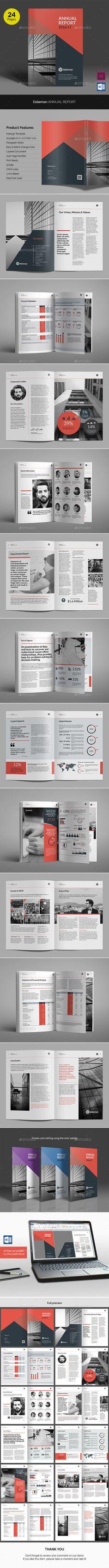Dalemen Annual Report — InDesign INDD #red #creative • Download ➝ https://graphicriver.net/item/dalemen-annual-report/19256764?ref=pxcr