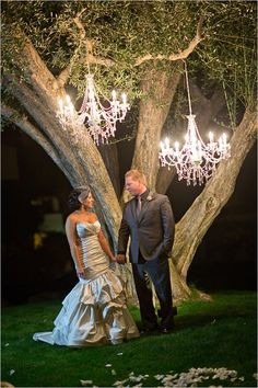 Phenomenal night time wedding photography by Kamee June Photography