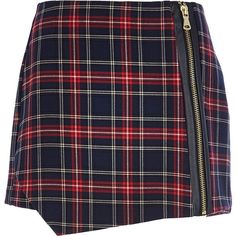 River Island Navy check smart skort and other apparel, accessories and trends. Browse and shop 21 related looks.
