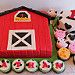 Barnyard Cake and Cupcakes by cakespace - Beth (Chantilly Cake Designs)