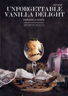 Unforgettable Vanilla Delight - a delicate and absolutely delicious ice-cream by SportyChoco (100% raw) Photography, styling and design ©Copyright 2013 Gabriela Iancu #food #styling #photography #gabrielaiancu #whatlibertyate #raw #brand #icecream