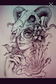 Something Beautiful – Tattoo Sketches & Tattoo Drawings Bull Tattoos, Body Art Tattoos, Sleeve Tattoos, Tattoo Sketches, Tattoo Drawings, Widder Tattoos, Chicanas Tattoo, Catrina Tattoo, Capricorn Tattoo