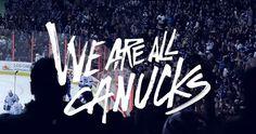 We are all Canucks Canada Hockey, Hockey Stuff, Vancouver Canucks, National Hockey League, Travel Style, Nhl, Fans, Board, Sports