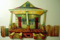 New Orleans Artist Terrance Osborne . 'shotgun double' . galleryosborne.com