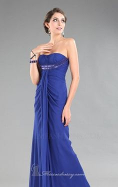 strapless empire line gown with drape collection LM Collection HY0682 Dress