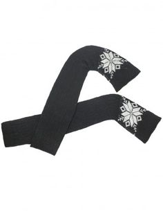 Dahlia Women's Wool Blend Leg Warmers - Snowflake