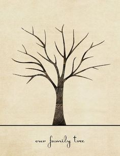 Sugar and Dots: Family Tree Print (Printable Craft!)