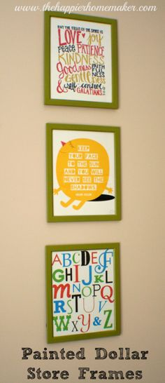 nursery dollar store frames  spray painted nursery art love chipboard letters canvas green diy     free printables from Beautifully Rooted, Mr. Printables, and vixenMade.