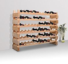 Homcom Wooden Wine Rack 6 Tier Shelf for 72 Bottles Shelving Storage Holder: Amazon.co.uk: Business, Industry & Science