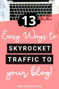 Learn how to increase blog traffic. 13 easy ways you can market and drive traffic to your blog. Most bloggers know about Facebook, Pinterest, etc but here are 9 other unique places where you can market and share your blog to boost traffic for free! Market your business, share your blog, drive traffic to blog, website, boost blog traffic #howtoincreaseblogtraffic #blogtraffictips #increaseblogtraffic #marketingideas Email Marketing Services, Affiliate Marketing, Make Money Blogging, How To Make Money, Free Market, Blogging For Beginners, Blog Tips, Making Ideas, Online Business