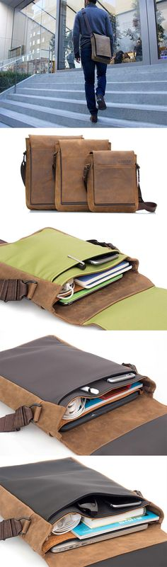 Muzetto Leather Bag by Waterfield Designs   Made in San Francisco with  naturally-tanned grizzly 6f4b39b9c4