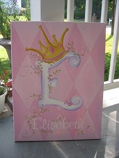 I hope that my niece sees this, it would be awesome for the babies room, with her initial!!!!!
