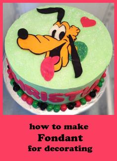 Pluto Cake - Great decorating helps here.