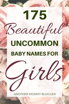 Look at this list of unique baby girl names. This baby name list has 175 beautiful baby girl name ideas for you to choose from. Look at this list of unique baby girl names. This baby name list has 175 beautiful baby girl name ideas for you to choose from. Baby Girl Names List, List Of Girls Names, Popular Girl Names, Pretty Girls Names, Beautiful Baby Girl Names, Girls Names Vintage, Middle Names For Girls, Baby Girl Names Unique, Girl Names With Meaning