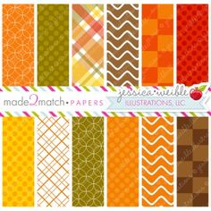 Gobblers Papers - Thanksgiving Autumn Digital Papers, Backgrounds