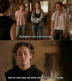 You are watching the movie Shameless on The series depicts the dysfunctional family of Frank Gallagher, a single father raising six children. Shameless Tv Series, Shameless Memes, Watch Shameless, Carl Shameless, Ian And Mickey, Carl Gallagher, Cameron Monaghan, Film Quotes, Music Tv