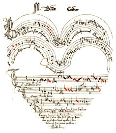 One example of free printable vintage images - Valentine - Medieval music shaped like a heart. This site is a great resource.