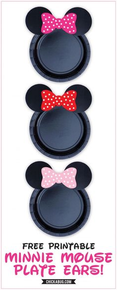 Minnie Mouse Plates Free Printables