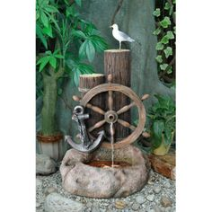 Outdoor Garden Water Fountain for Sale, Available with Dancing Shadows. Find Best Outdoor Garden Water Fountains for Garden From Our Collection. Buy Online in USA & Canada. Fountains For Sale, Garden Water Fountains, Diy Fountain, Outdoor Decor, Indoor Outdoor, Ship Wheel, Yard, Nautical Landscaping, Tropic Island
