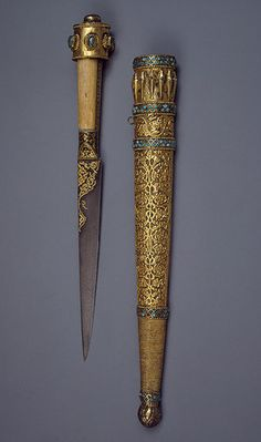 Knife - 1801 central asia Iran - treasury of khiva Qajar - I need to carry this around. Swords And Daggers, Knives And Swords, Walking Sticks And Canes, Dagger Knife, Shadow Warrior, Knife Art, Cool Knives, Arm Armor, Cold Steel
