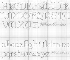 Alfabeto: maiscolo da 7 q. minuscolo da 4x3 - a punto scritto