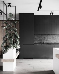 decor ideas-luxe-interior design-home-decor-living What do you think? Are black and white kitchens the perfect decor or does this space need a pop of color? Interior Desing, Modern Interior, Interior Inspiration, Interior Architecture, Interior Lighting, Architecture Details, Interior Ideas, Küchen Design, House Design