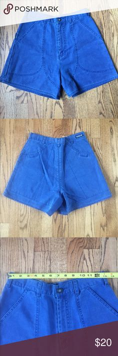 "Patagonia Organic Cotton Stand Up Shorts Size 10 PATAGONIA ORGANIC COTTON CANVAS STAND UP WOMEN'S Blue SIZE 10 SHORTS. Nice pair of Women's Patagonia 100% Organic Cotton Canvas Stand Up Shorts Inseam 4"", two front slant & two Velcro closed rear pockets They are in good 'just the way we like them' pre owned condition with no rips tears or holes.  From a pet and smoke free home. D3 Patagonia Shorts"