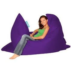 BAZAAR BAG ® - Giant Beanbag PURPLE - Indoor & Outdoor Bean Bag - MASSIVE 180x140cm - GREAT for Garden: Amazon.co.uk: Kitchen & Home