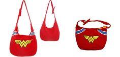 DC Comics Wonder Woman Symbol Logo Hobo Snap Tote Shoulder Bag. official Licensed Item. Fabric Material Hobo shoulder bag.