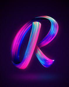 36 days of type x on Behance R Letter Design, Alphabet Letters Design, Typography Alphabet, Letter Art, Typography Wallpaper, Alphabet Wallpaper, Name Wallpaper, Funny Phone Wallpaper, Lettering Design