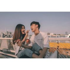 Image may contain: 3 people, people sitting, vote . Relationship Goals Pictures, Cute Relationships, Korean Couple, Best Couple, Couple Posing, Couple Shoot, Cute Couples Goals, Couple Goals, Couple Photography