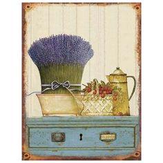 Lavendel Küchen Bild Metall Blech Wandbild Vintage Nostalgie Blechschild