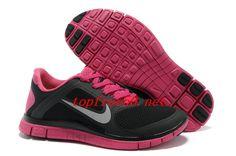 sports shoes 07b69 d9d32 340788 Black Pink Nike Free 4.0 V3 Women s Running Shoes Black Running Shoes,  Free Running