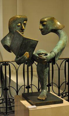 Sculpture, La lecture, Etienne, Bon Marché (2012)