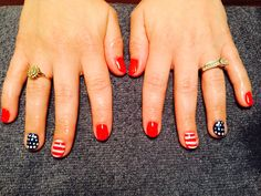 Fun 4th of July nails by Cher