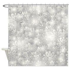 Christmas Snowflakes Shower Curtain on CafePress.com