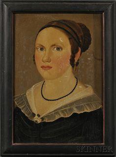 : Prior/Hamlin School, 19th Century Portrait