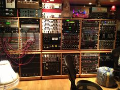 Jack Joseph Puig's Outboard Rack #1. This is just one of the huge racks of outboard gear in JJP's private mix room at Oceanway Recording in Hollywood. It's probably only about a third of the gear in the room. #recording