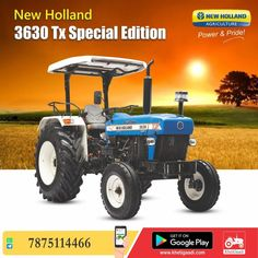 New Holland 3630 Tx Special Edition ✔️HP: 55HP ✔️No. of cylinder: 3 Cylinder ✔️Gear Box Type: 12 Forward + 3 Reverse पूरी जानकारी मिलेगी यहाँ ➡️ #KhetiGaadi #NewHolland3630 #SpecialEdition #NewTractors #TractorPrice