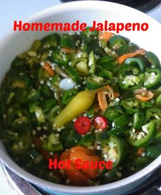 Yummy Homemade Jalapeno Hot Sauce With a Kick Jalapeno Pepper Sauce Recipe, Jalapeno Recipes, Hot Pepper Sauce, Stuffed Jalapeno Peppers, Jalapeno Relish, Jalapeno Cheese, Pepper Recipes, Spicy Recipes, Appetizer Recipes