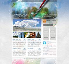 Photoshop Watercolour Themed Website Design