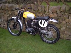 here we have a fine bsa scrambler that has been modified well for purposeThe frame has been modi fied with extra gussets to tie the main loop with the swinging arm/subframe. The subframe ha Motocross Bikes, Scrambler Motorcycle, Motorcycles, Old Bikes, Trials, British, Vintage, Old Motorcycles, Vintage Comics