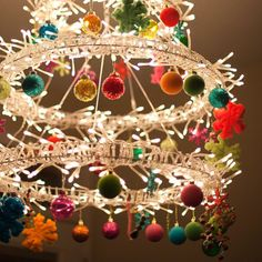 So pretty! I love these wreaths... they're from IKEA and so versatile. Can be chandeliers or wall wreaths.