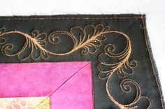 Sew-n-Sew Quilting: Lovely feather border and corner by Kim Stotsenberg