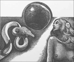 """The Fall from """"God's Images"""" -- Marvin Haye's biblical etchings from the book with James Dickey James Dickey, E Nesbit, David Rockefeller, Barbara Walters, Ink Model, Summer Rain, Old Testament, Etchings, Snakes"""
