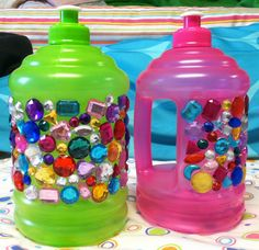 Bedazzled Water Jugs