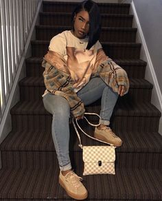Chill Outfits, Dope Outfits, Trendy Outfits, Fashion Outfits, Black Girl Fashion, Look Fashion, Fall Fashion, Fall Winter Outfits, Autumn Winter Fashion